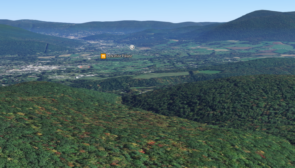 Screenshot from Google Maps to illustrate the view as you approach the airport.